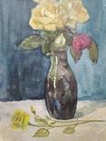 """Цветы"" б.акв., 40х28 см., худ.А. И. Вербицкая., фото №3"