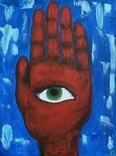 Картина акрил + флюорисцентні фарби 40x30cm Дрогомирецька Р., фото №2