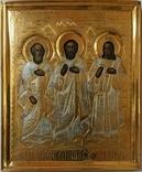 Икона св. Симон, св. Гурий и св. Авив, фото №2