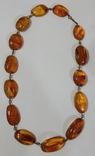 Бусы, ожерелье натуральный янтарь, фото №3