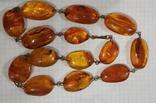 Бусы, ожерелье натуральный янтарь, фото №6