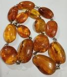 Бусы, ожерелье натуральный янтарь, фото №8