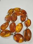 Бусы, ожерелье натуральный янтарь, фото №11