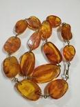 Бусы, ожерелье натуральный янтарь, фото №12