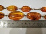 Бусы, ожерелье натуральный янтарь, фото №13