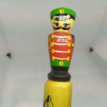 Деревянный карандаш. Солдатик. Длина 200мм, диаметр 23мм, фото №3