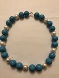 Бусы намисто ожерелье винтаж тяжелые застежка серебро 925, фото №3