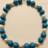 Бусы намисто ожерелье винтаж тяжелые застежка серебро 925, фото №4