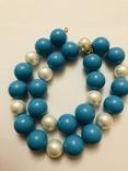 Бусы намисто ожерелье винтаж тяжелые застежка серебро 925, фото №7