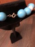 Бусы намисто ожерелье винтаж тяжелые застежка серебро 925, фото №11