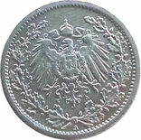 """Германия ½ марки, 1907  """"A"""" - Берлин,серебро,Г46, фото №3"""