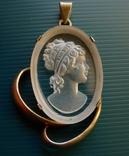 Кулон в серебре с камеей., фото №2