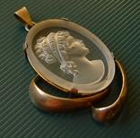 Кулон в серебре с камеей., фото №4