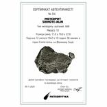 Залізний метеорит Sikhote-Alin, 13 г, з сертифікатом автентичності, фото №3