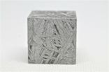 Куб із залізного метеорита Aletai, 60,6 грам, із сертифікатом автентичності, фото №7