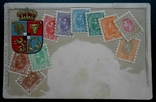 1920-е г. Германия Открытка с изображением Румынских почтовых марок, фото №2