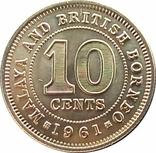 Малайя и Британское Борнео 10 центов,1961, фото №3