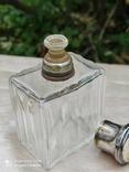 Хрустальный парфюмерный флакон в серебре, фото №6