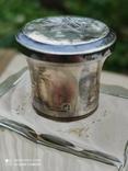 Хрустальный парфюмерный флакон в серебре, фото №7