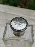 Хрустальный парфюмерный флакон в серебре, фото №8