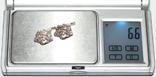 """Серебрянные серьги """"Розы"""" с камнями (Украина.,925 проба.,ХЯВ3) 6,6 грамма, фото №9"""