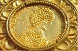 Золотой медальон с изображением августы Галла Плацидия. Копия., фото №6