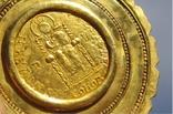 Золотой медальон с изображением августы Галла Плацидия. Копия., фото №9