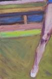"""В.Кнышевский """"Гимнастка"""", х.м.53*38см, 1980г, фото №3"""