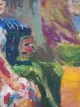 """В.Кнышевский """"Свидание"""", х.м.40*40см, 1980г, фото №3"""