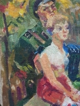 """В.Кнышевский """"Свидание"""", х.м.40*40см, 1980г, фото №4"""