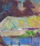 """В.Кнышевский """"Свидание"""", х.м.40*40см, 1980г, фото №5"""