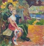 """В.Кнышевский """"Свидание"""", х.м.40*40см, 1980г, фото №2"""