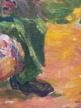 """В.Кнышевский """"Свидание"""", х.м.40*40см, 1980г, фото №10"""