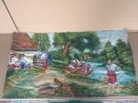 Картина 104 х 56, масло., фото №9