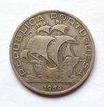 Португалія Португалия 10 ескудо эскудо 1954 серебро срібло, фото №2