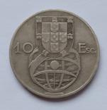 Португалія Португалия 10 ескудо эскудо 1954 серебро срібло, фото №3