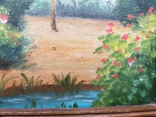Старая картина масло холст, фото №11