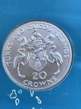 Тёркс и Кайкос 20 крон, 1974 100 лет со дня рождения Уинстона Черчилля, фото №4