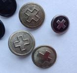 Пуговицы красный крест. Европа, фото №6