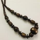 Ожерелье бусы намисто дерево и кость, фото №6