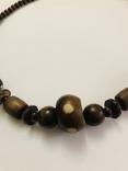 Ожерелье бусы намисто дерево и кость, фото №11