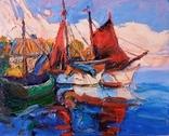 Олександр Винник-1978,''Червоні паруса''-2020,полотно,олія,40×49,5см. Копія., фото №2