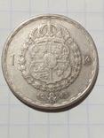 1 крона 1943 Швеція срібло, фото №2