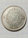 1 крона 1945 Швеція срібло, фото №2