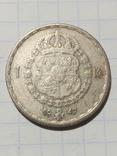 1 крона 1947 Швеція срібло, фото №2
