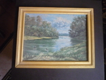Картина закарпатского художника. Река Тиса., фото №2