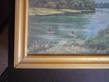 Картина закарпатского художника. Река Тиса., фото №5