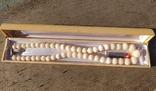 Бусы натуральный коралл, резные шары., фото №2