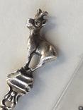 Сувенирная ложка из швейцарского Монтрё, серебро, полихромные эмали, фото №5