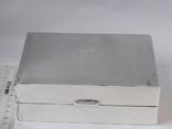 Коробка для сигарет, серебро, Великобритания, вес брутто 485 грамм, фото №2
